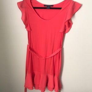 Ruffle Pink Minidress